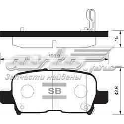 колодки гальмові задні, дискові  SP1371