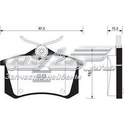 колодки гальмові задні, дискові  sp1391