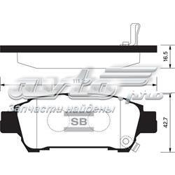 колодки гальмові задні, дискові  SP1423