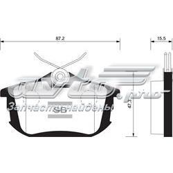 колодки гальмові задні, дискові  SP1531