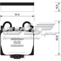 колодки гальмові задні, дискові  SP1554