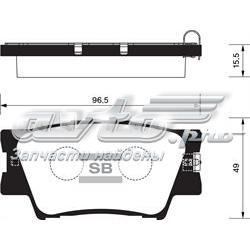 колодки гальмові задні, дискові  SP2081
