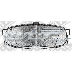 колодки гальмові задні, дискові  PN1542