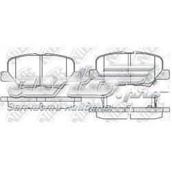колодки гальмові задні, дискові  PN25003