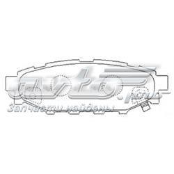 колодки гальмові задні, дискові  PN7501