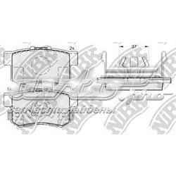 колодки гальмові задні, дискові  PN8807