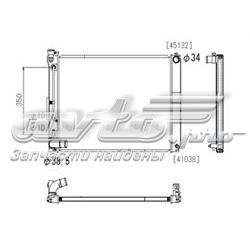 радіатор охолодження двигуна  PL012617