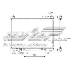 радіатор охолодження двигуна  PL021676