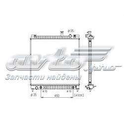 радіатор охолодження двигуна  pl021687