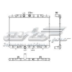 радіатор охолодження двигуна  PL022114R