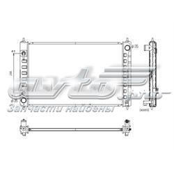 радіатор охолодження двигуна  PL022115