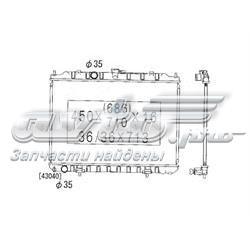 радіатор охолодження двигуна  PL021933R