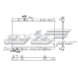 радіатор охолодження двигуна  pl022459