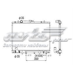 радіатор охолодження двигуна  PL030698