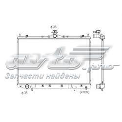 радіатор охолодження двигуна  PL031648