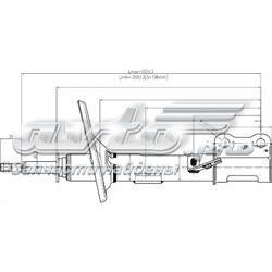 амортизатор передній, лівий  ST4852039415