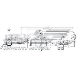амортизатор передній, лівий  ST543034H225