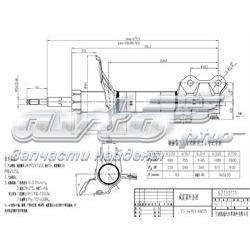 амортизатор передній, лівий  ST543036N225