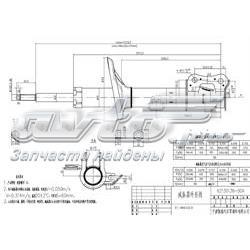амортизатор передній, лівий  ST96653231
