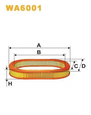 фільтр повітряний  wa6001