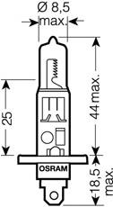 Лампочка галогенова, дальній/ближній