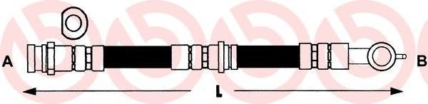 шланг гальмівний передній  T49003