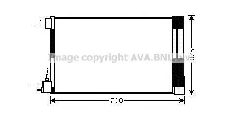 радіатор кондиціонера  OL5478