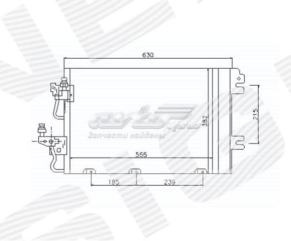 радіатор кондиціонера  RC94767