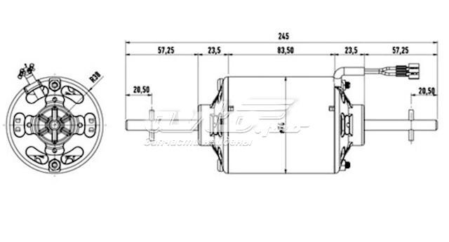 двигун вентилятора пічки (обігрівача салону)  0130111130