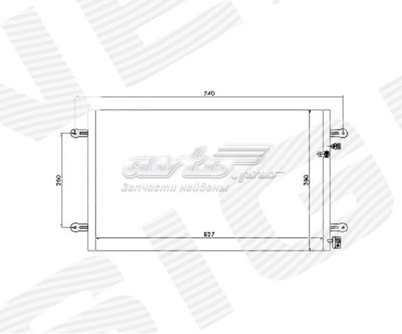 радіатор кондиціонера  RC94695
