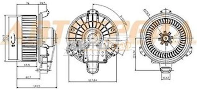 двигун вентилятора пічки (обігрівача салону)  8710360400
