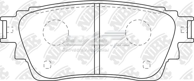 колодки гальмові задні, дискові  PN3815