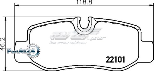 колодки гальмові задні, дискові  P50126