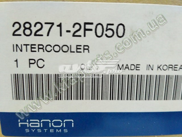 радіатор интеркуллера  282712F050