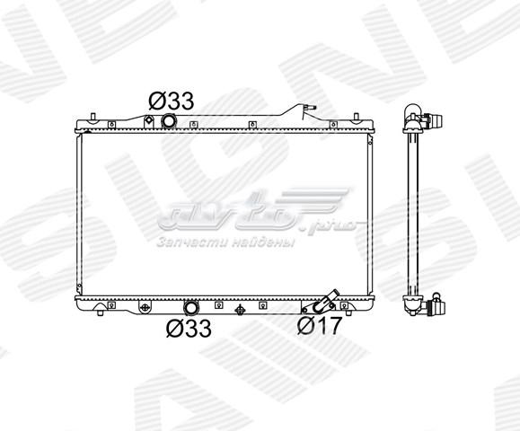 радіатор охолодження двигуна  RA606216Q