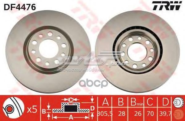 диск гальмівний передній  DF4476