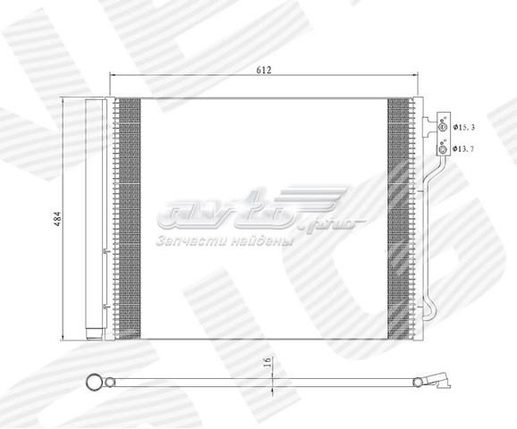 радіатор кондиціонера  RC940370