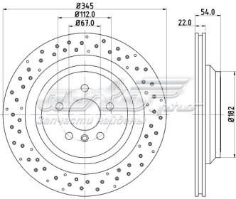 диск гальмівний задній  DDF2209C