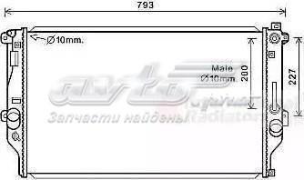 радіатор охолодження двигуна  PL012985