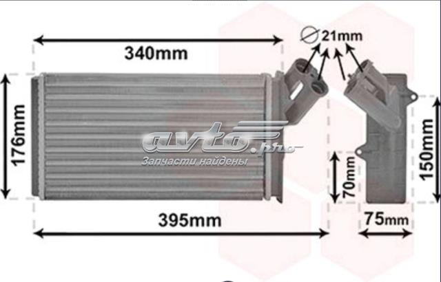 радіатор пічки (обігрівача)  FP26N12