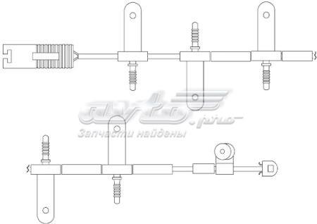 датчик зносу гальмівних колодок, передній  WS0216A