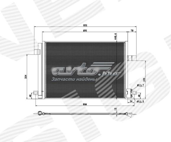 радіатор кондиціонера  RC940732