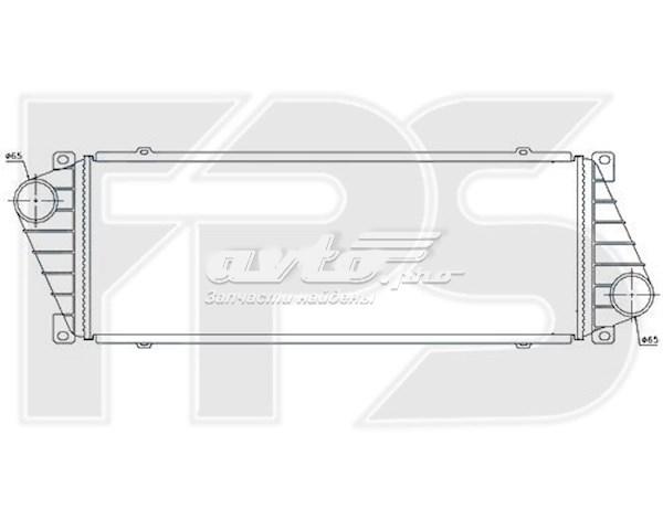 радіатор интеркуллера  FP46T36