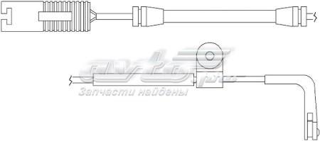 датчик зносу гальмівних колодок, передній  WS0163