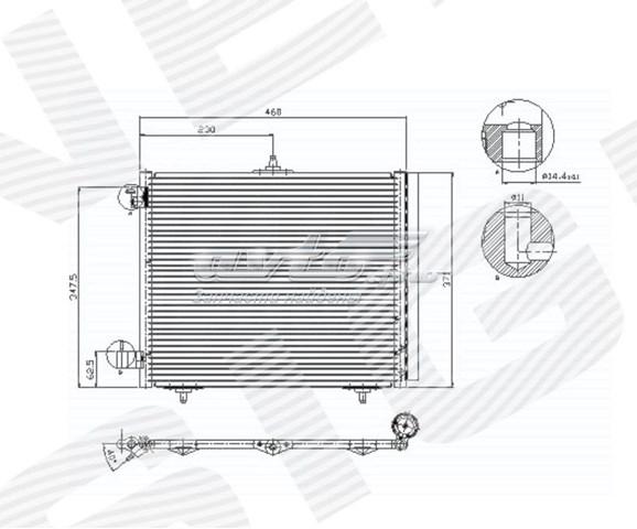 радіатор кондиціонера  RC94595