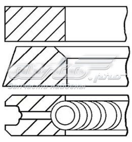 Ціна на 800074610025 кольца поршневые дизель на Mercedes Sprinter (907