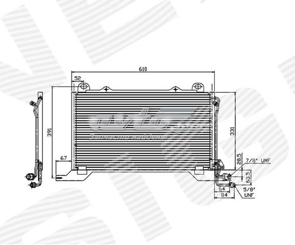 радіатор кондиціонера  RC94425