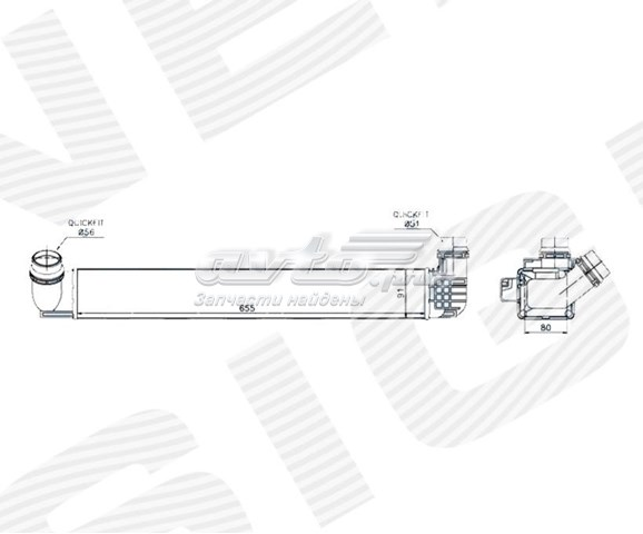 радіатор интеркуллера  RI96545