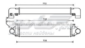 радіатор интеркуллера  DAI001TT